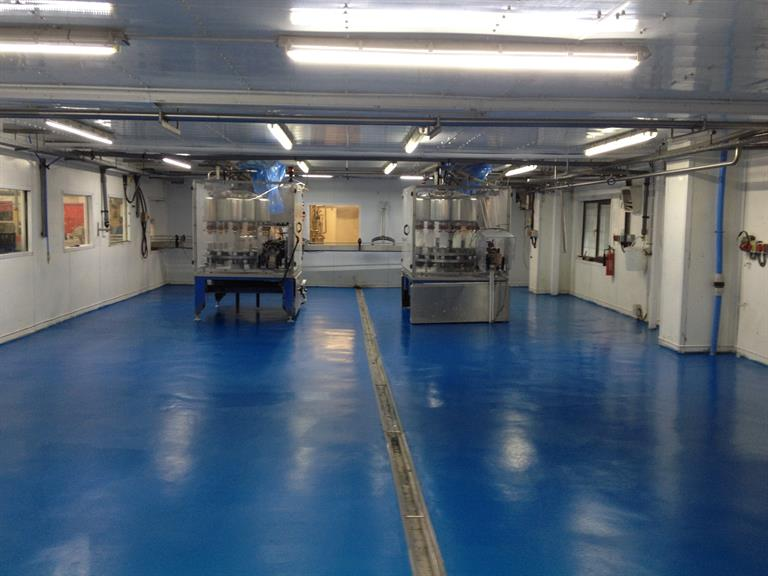 Blue altro flooring completed